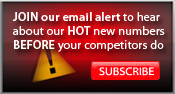 Join our email alert to hear about our HOT new numbers BEFORE your competitors do - SUBSCRIBE